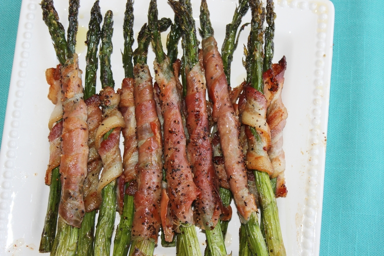 Bacon and Prosciutto Wrapped Asparagus