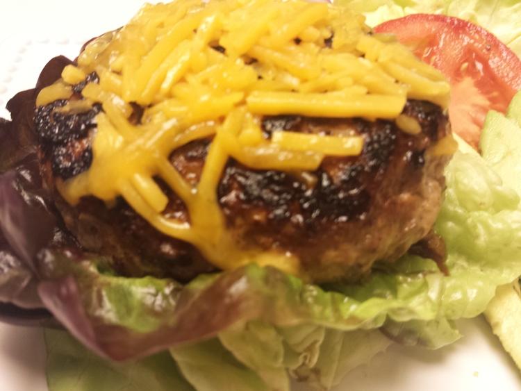 Healthy Cheeseburger in Paradise