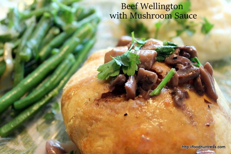 Delicious Beef Wellington with Mushroom Sauce