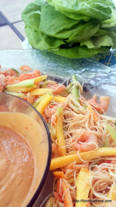 30.3 Papaya Mango Shrimp Lettuce Wraps