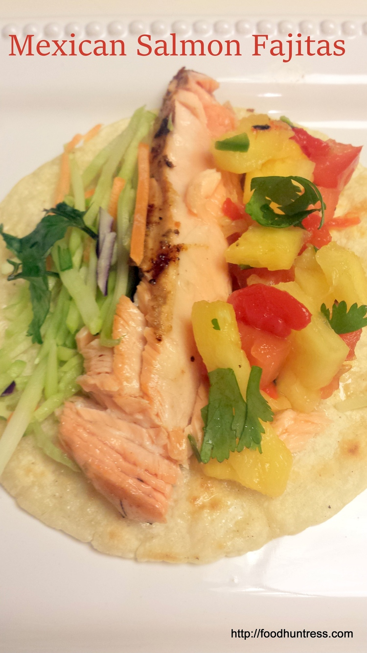 Mexican Grilled Salmon Fajitas