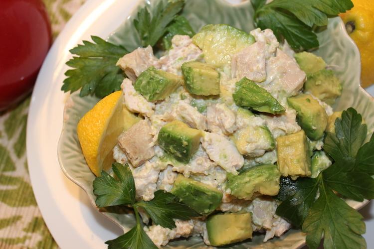 Avocado Chicken Salad Lighter Version