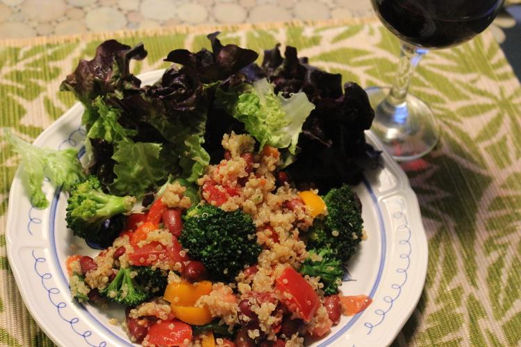 75.32 Frijoles and Broccoli Quinoa