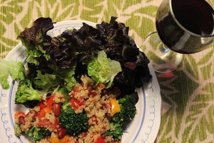 Frijoles and Broccoli Quinoa