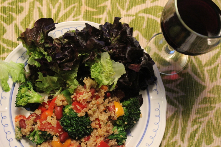 Frijoles with Broccoli Quinoa