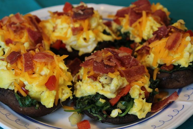 8.91 Portobello Egg and Kale Low Carb Breakfast