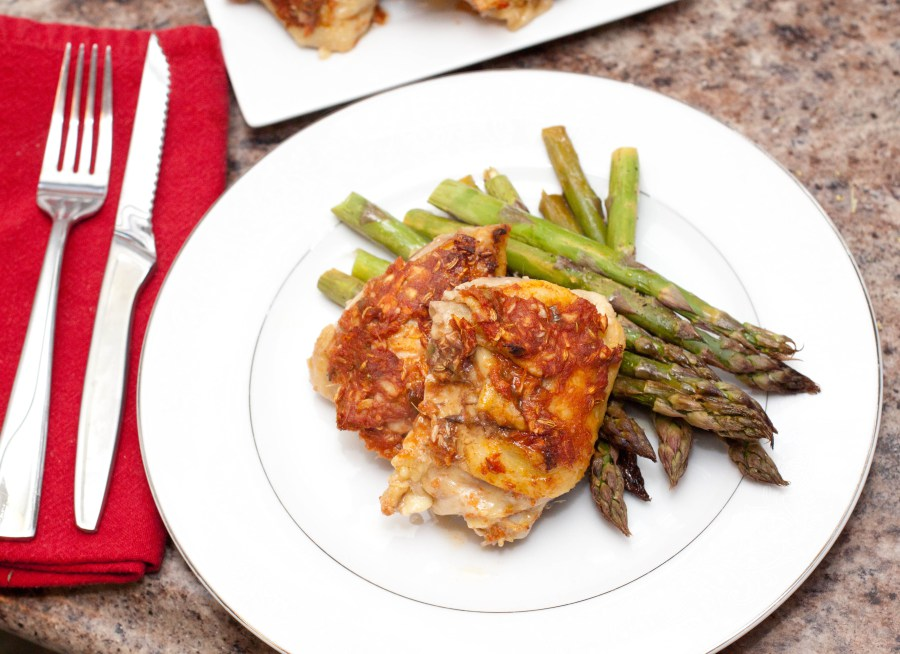 Spicy-Roasted-Chicken-Thighs-by-Served-from-Scratch 14 MOUTHWATERING CHICKEN RECIPES