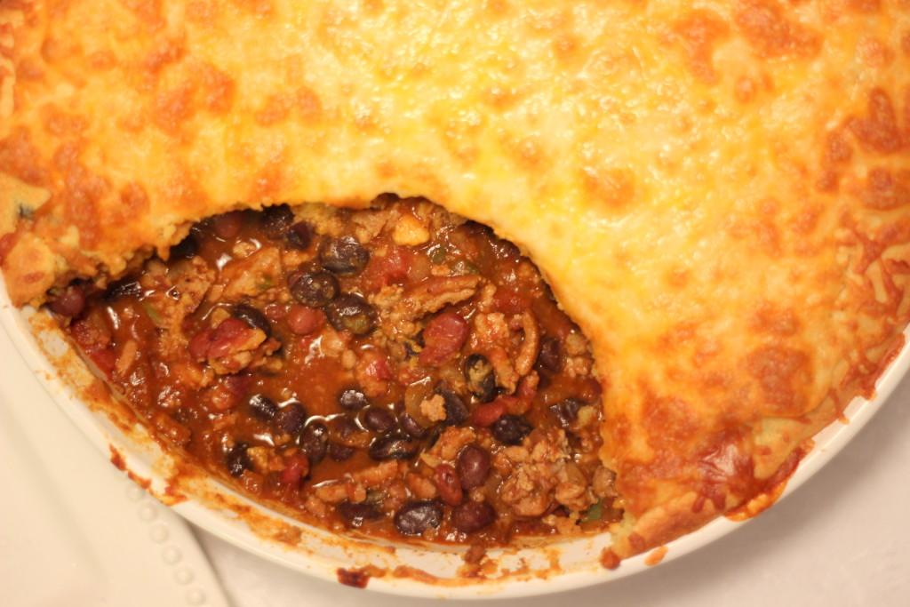 IMG_3130-001-1024x683 Turkey Chili Cornbread Pie