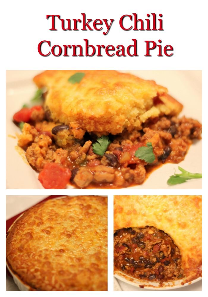 Turkey-Chili-Cornbread-Pie Turkey Chili Cornbread Pie