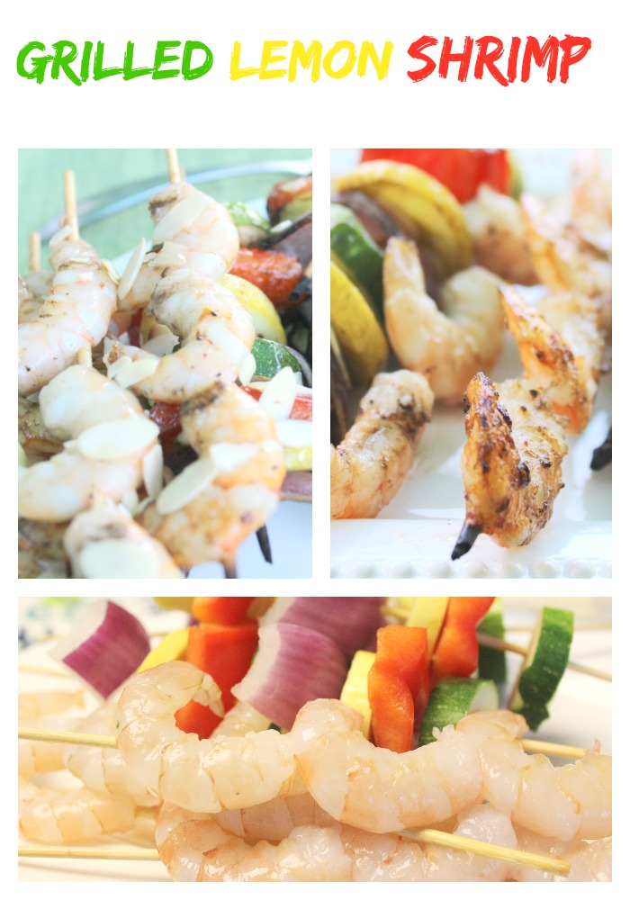 Grilled-Lemon-Shrimp Grilled Lemon Shrimp and Vegetables