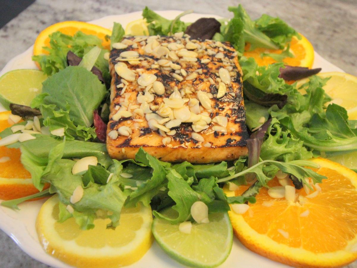 Asian Citrus Salmon Salad