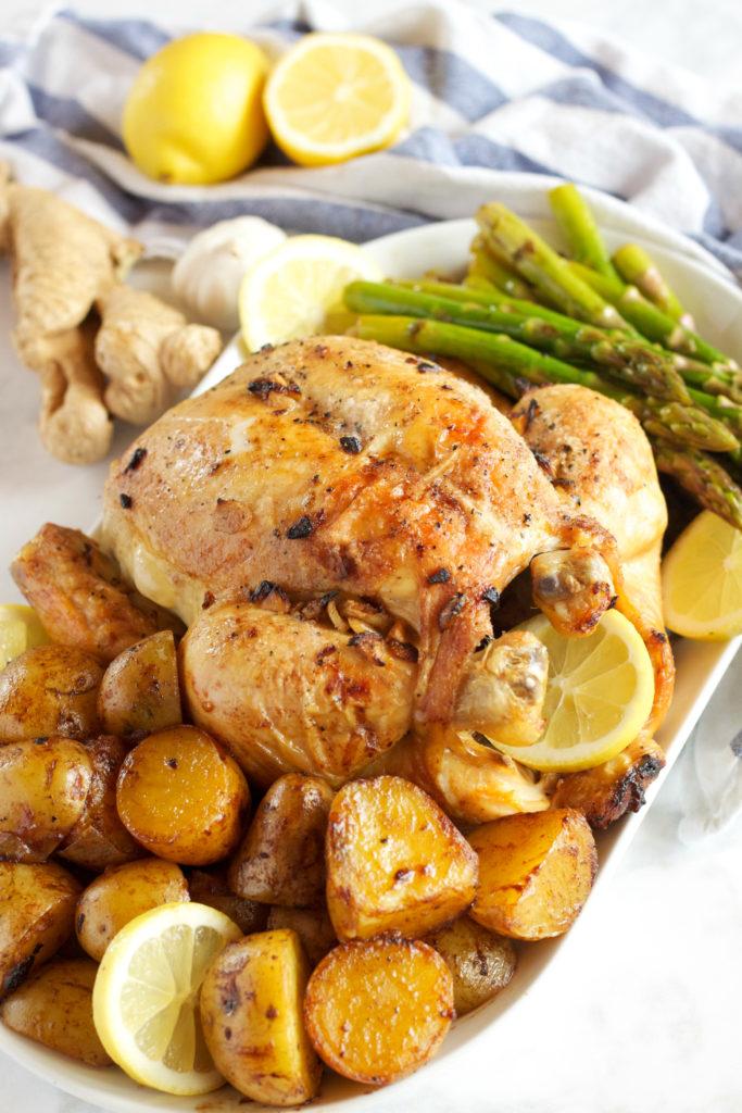 lemon-garlic-ginger-roasted-chicken-1-683x1024 Lemon Garlic Ginger Roasted Chicken